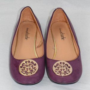 Charming Charlie Purple Flats Size 6